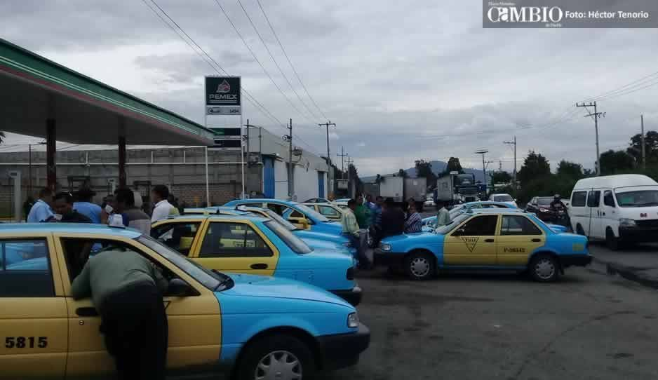 Taxistas de Texmelucan solicitan botón de alertamiento ante ola de inseguridad