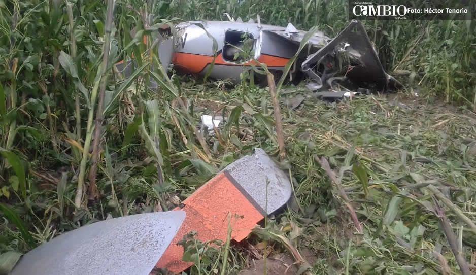Avionazo en Juan C. Bonilla deja tres heridos y pérdidas millonarias