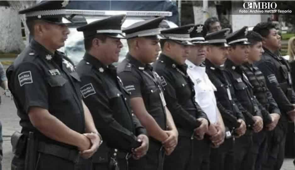 Reducen salario a policías de Huejotzingo
