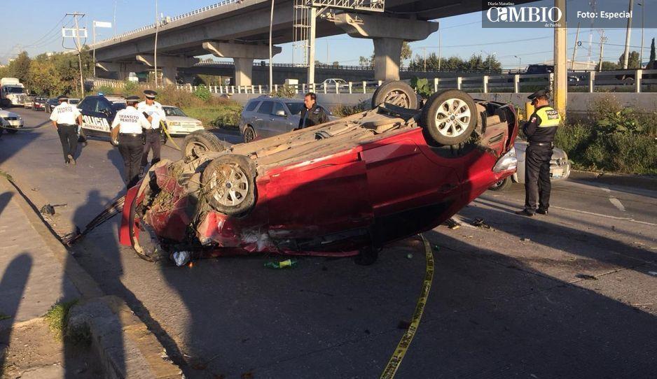 Accidente automovilístico cobra la vida a una joven en la México-Puebla
