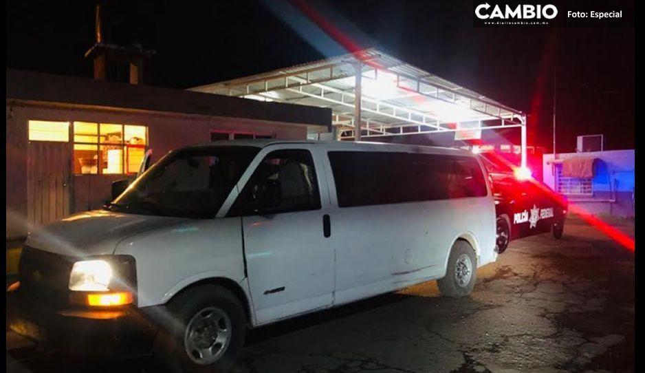 Federales aseguran unidad huachicolera en Tlahuapan, el conductor se dio a la fuga