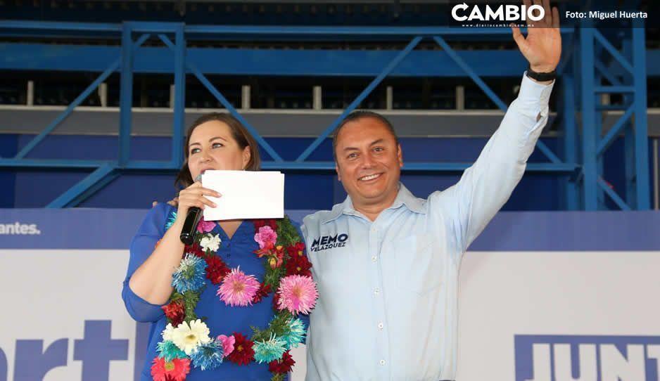Alcalde Guillermo Velázquez apoya a Martha Erika Alonso