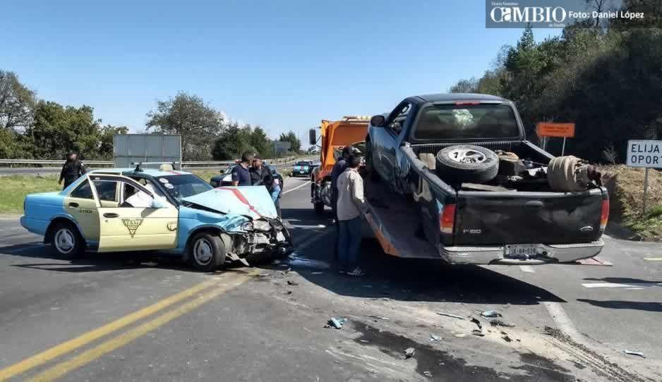Brutal accidente sobre la carretera federal Amozoc – Nautla deja 5 lesionados