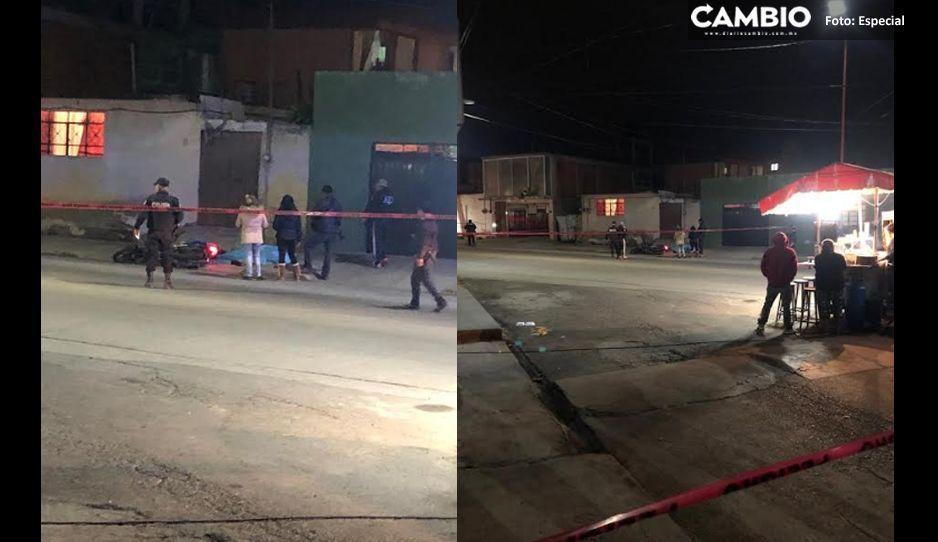 Muere motociclista al ser impactado por arma de fuego en Texmelucan
