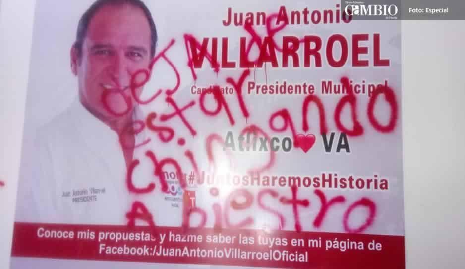 Buscan intimidar a Juan Antonio Villarroel con mensajes en su casa de campaña