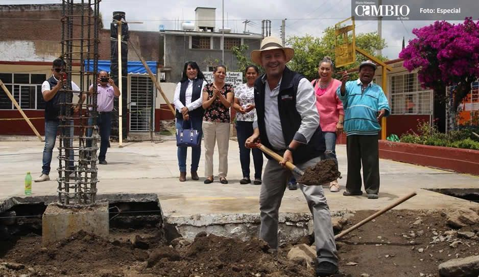 Galeazzi rehabilita escuelas afectadas por sismo en Atlixco
