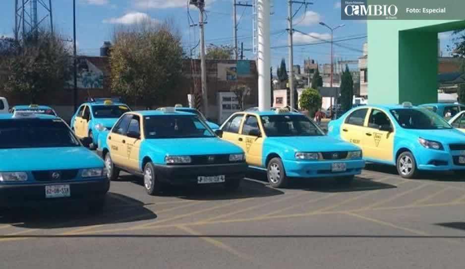 Taxistas de Texmelucan dejan de operar durante la noche por inseguridad