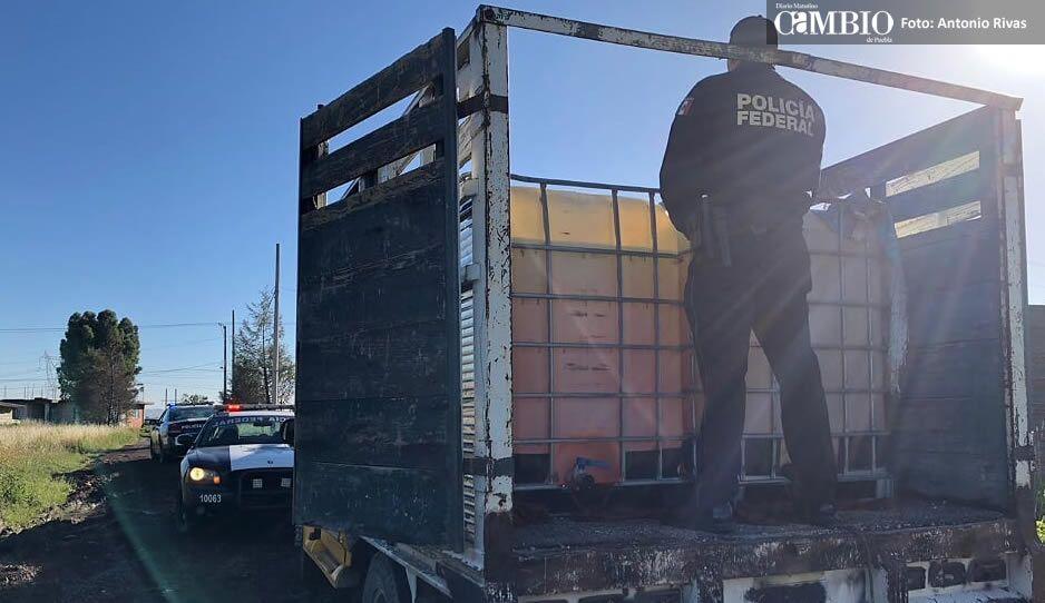 Aseguran camión con huachicol en Coronango