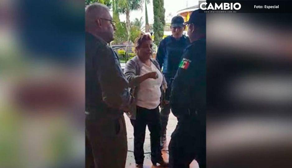 #LadyRegidora  humilla policías de Ocoyucan