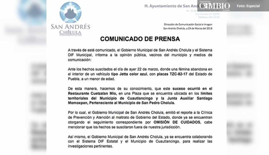 DIF Estatal y San Andrés investigan a #MamádelAño por abandonar a su bebé