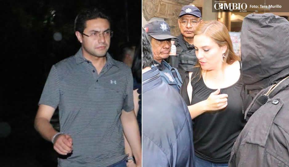 Jesús Giles y Sandra Izcoa abandonan las instalaciones del Hotel MM donde permanecían retenidos