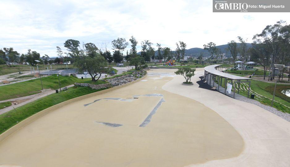 Amalucan Beach en mantenimiento y poblanos dejan de ir al parque (VIDEO)