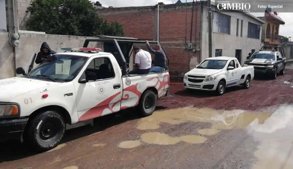 Protección Civil de Texmelucan aseguró seis kilos de pólvora en fiestas patrias