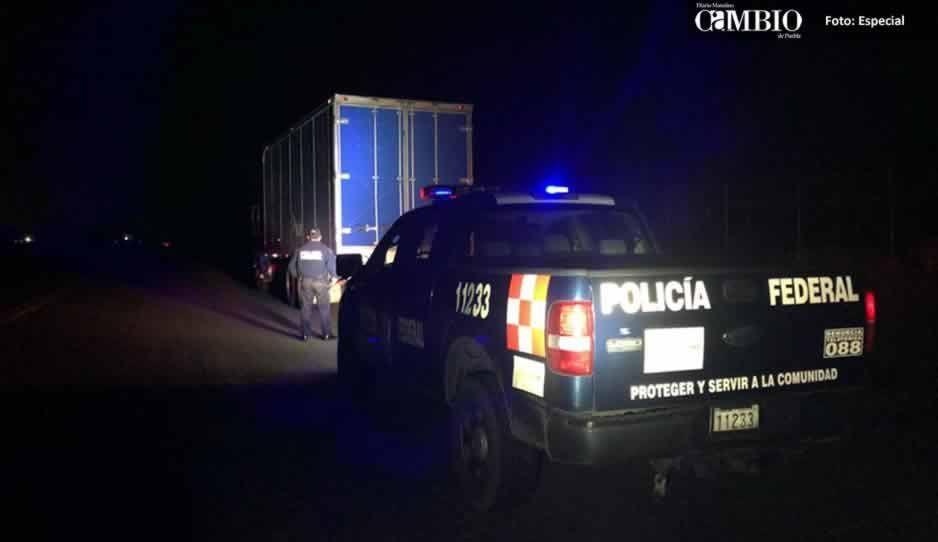 Policía Federal recupera camión con reporte de robo en Huejotzingo