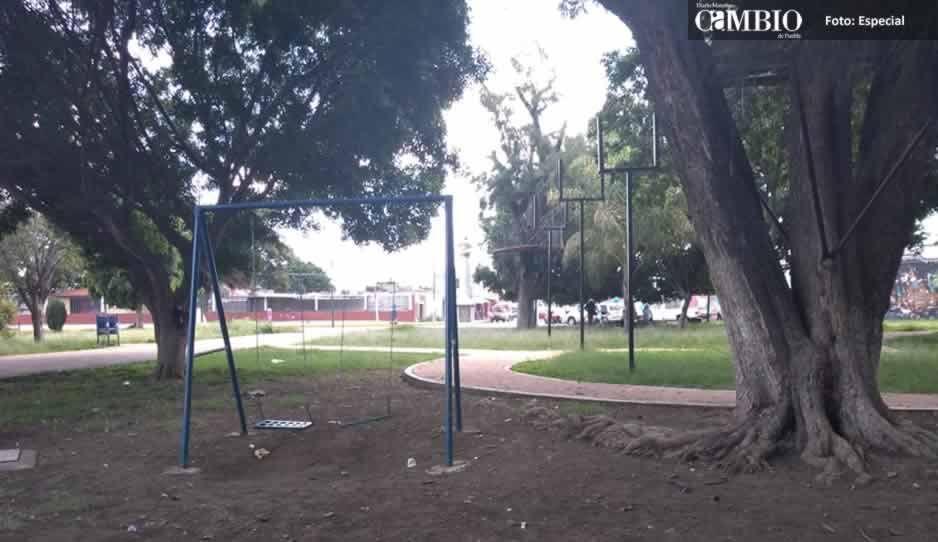 Abandonan el parque Revolución de Atlixco