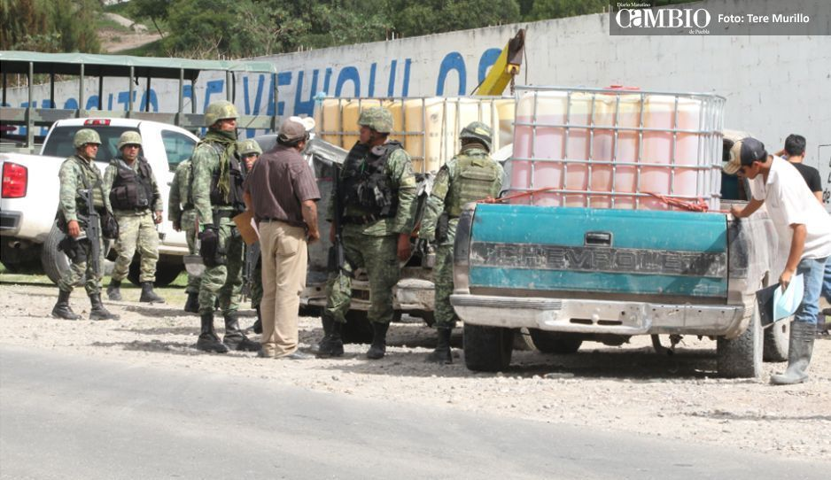 Fin de semana violento en Texmelucan, 4 choques entre militares y huachicoleros