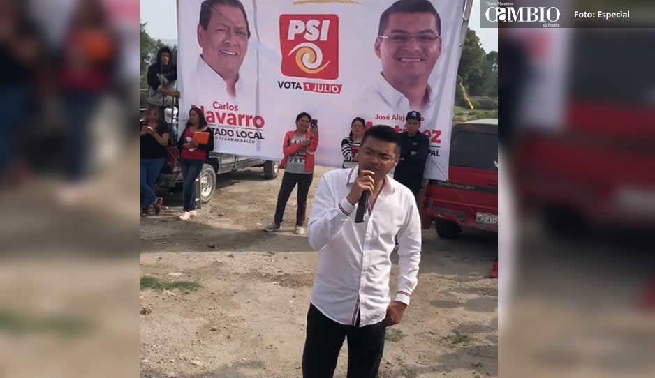 Hermano de El Toñín se echa un palomazo en busca del voto (VIDEO)