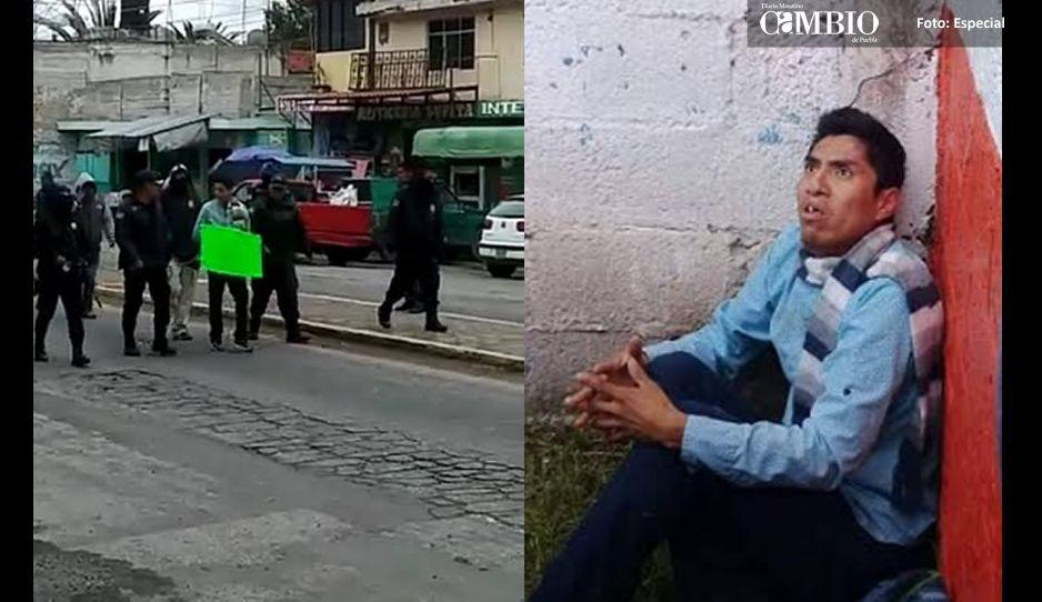 Ratero se salva de ser linchado pero no de ser exhibido en vía pública (VIDEO)