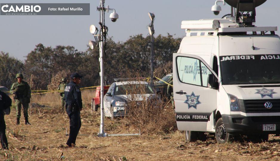 Peritos realizan nuevas diligencias en el lugar donde se desplomó helicóptero de Martha Erika y Moreno Valle