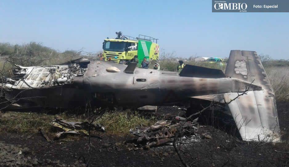 Avión de la SEDENA se accidenta en Oaxaca