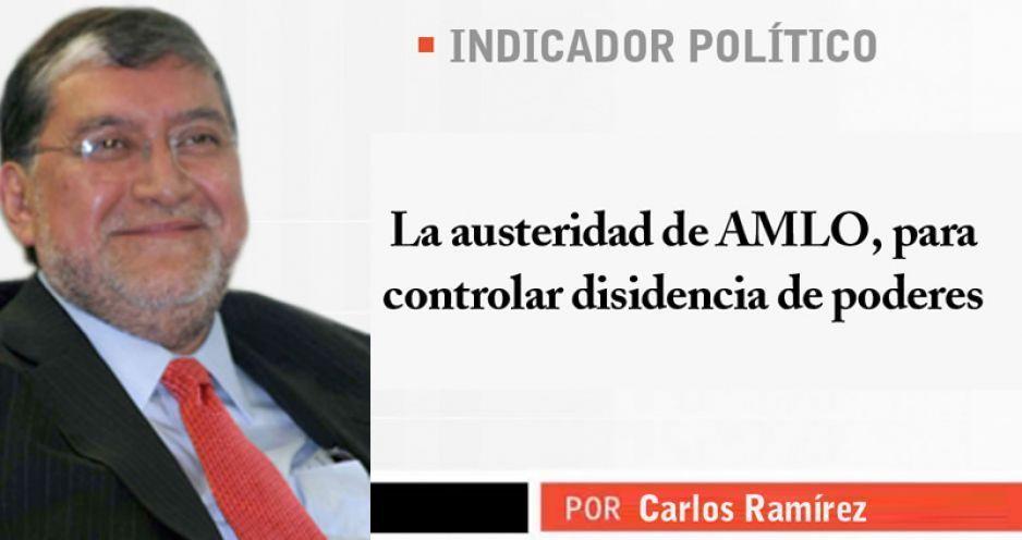 La austeridad de AMLO, para controlar disidencia de poderes