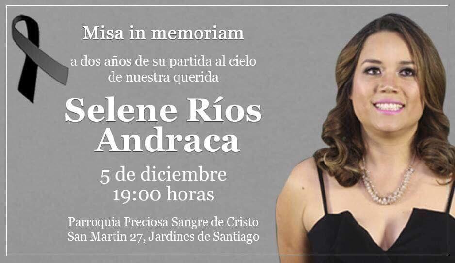Misa en memoria de Selene Ríos Andraca: hoy a las 19 horas en Parroquia Sangre de Cristo ¡Acompáñanos!