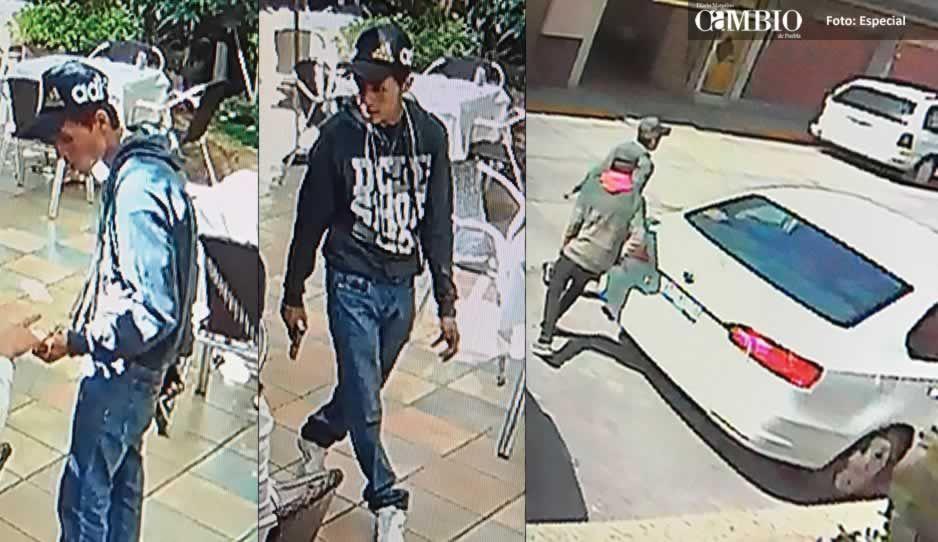 Le roban 10 mil pesos y su vehículo a mujer en restaurante de Texmelucan