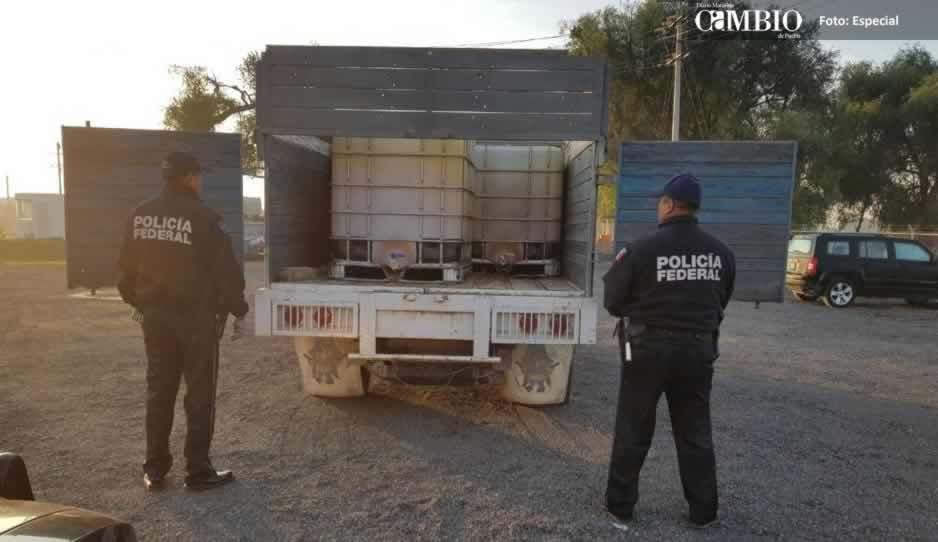 PF asegura siete unidades ligadas al trasiego de combustible en Tlahuapan