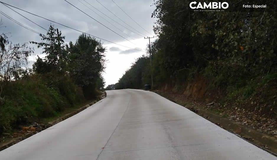 Aún sin terminar, inauguran tramo carretero en Teziutlán
