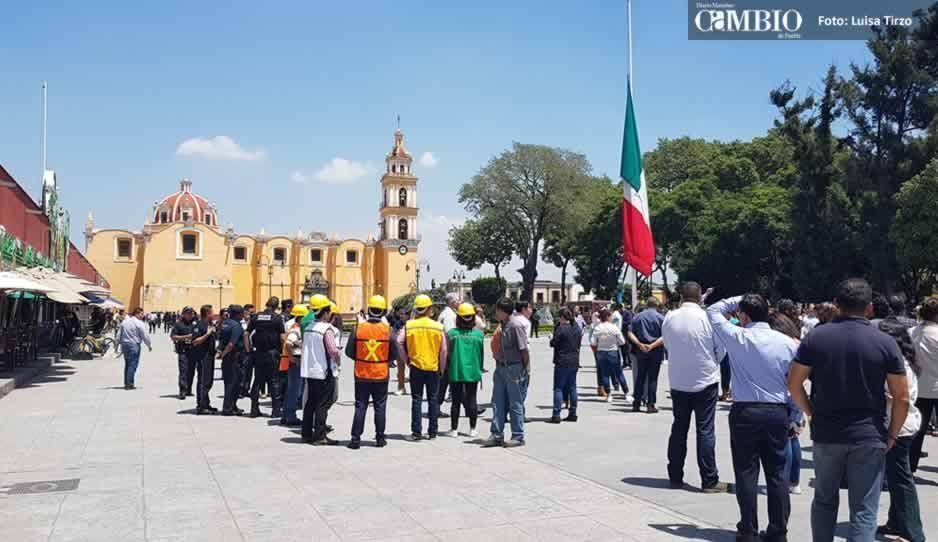 Macrosimulacro para conmemorar el S-19, pasa desapercibido en San Pedro (FOTOS y VIDEO)