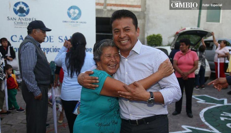 Destacan gestión de Leoncio  Paisano en San Andrés Cholula