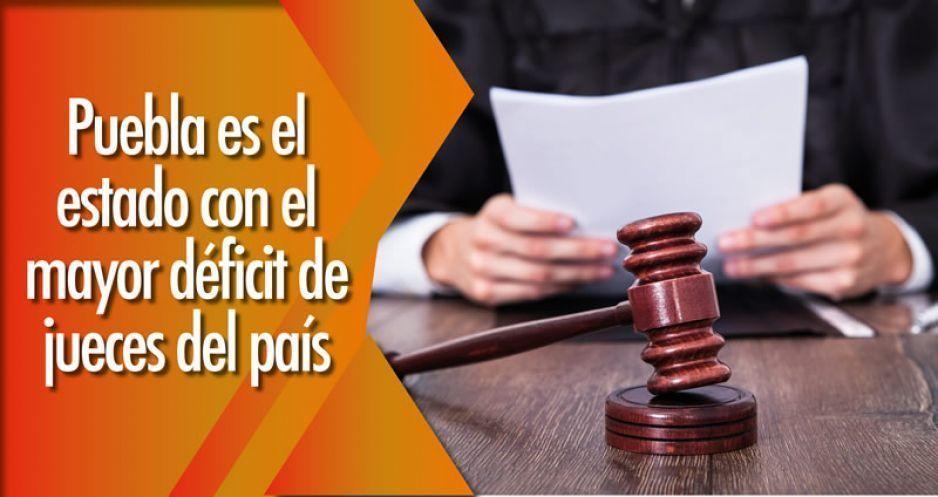 Puebla es el estado con el mayor déficit de jueces del país