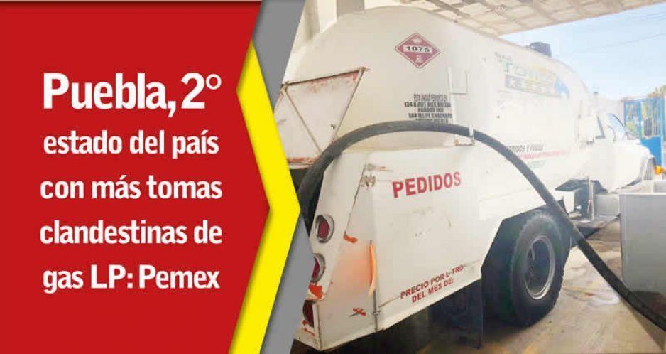 Además de huachicol, Puebla ya despunta en ordeña de gas LP