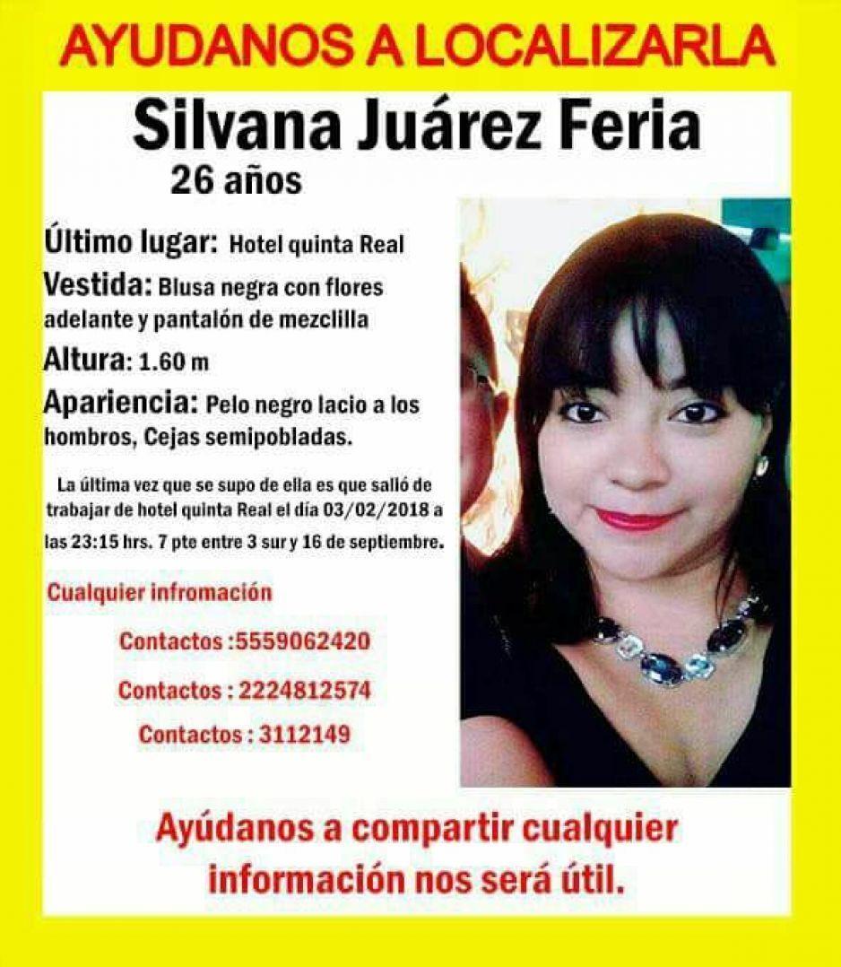 Ayuda a encontrar a Silvana Juárez, desapareció tras salir del Quinta Real