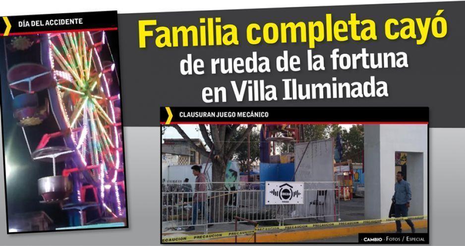 Familia completa cayó de rueda  de la fortuna en Villa Iluminada (VIDEO)