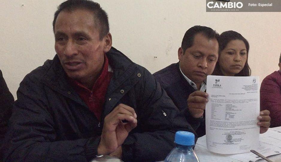 Denuncian represión del Concejo Municipal de Ocoyucan