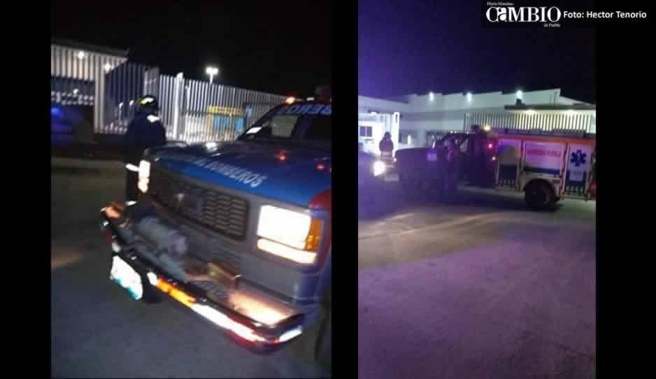 Bomberos estatales controlan fuga de gas en Huejotzingo