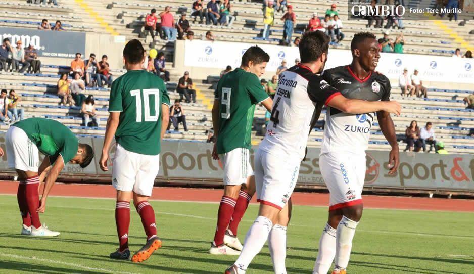 Al medio tiempo Lobos Buap gana 4 a 0 frente al Tri sub-21