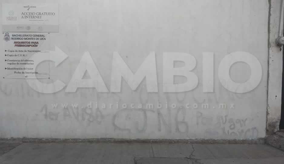Dejan narcomensaje en bachillerato de San Martín Texmelucan; lo firma el CJNG