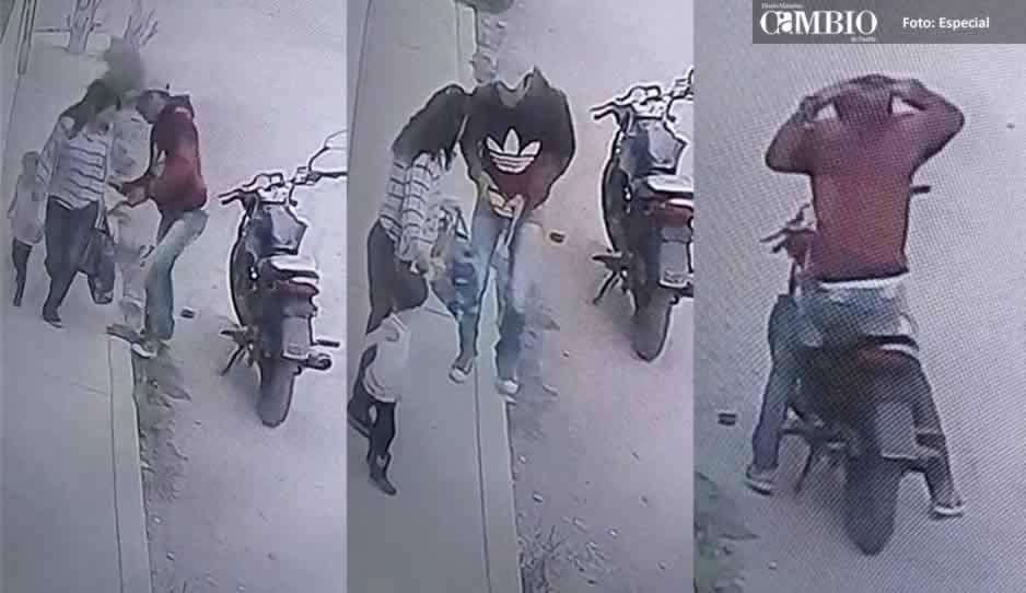 VIDEO: Captan a rata asaltando a una mujer en colonia de Texmelucan