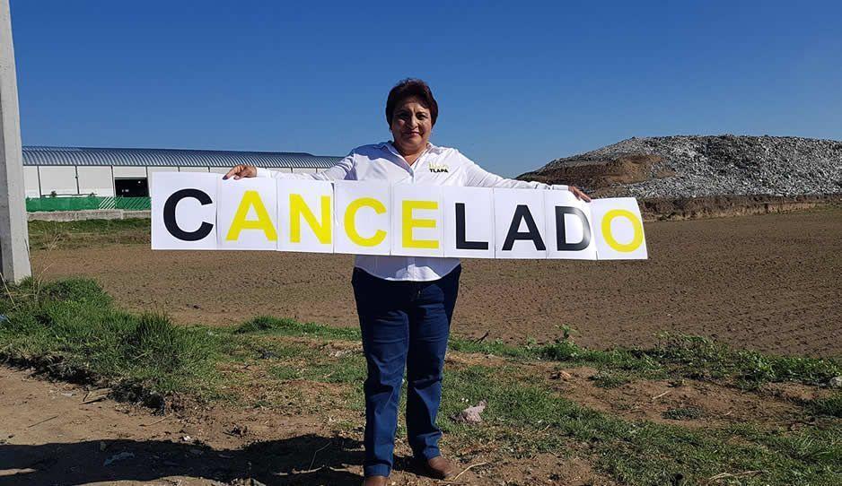 Candidata del PRD clausura de manera simbólica el Relleno Intermunicipal de Cholula
