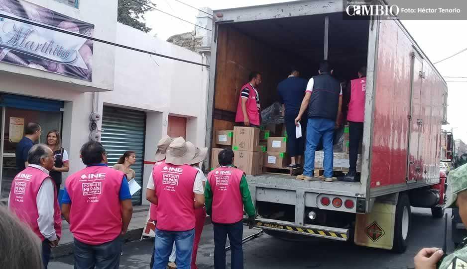 Llega la papelería electoral al INE de San Martín