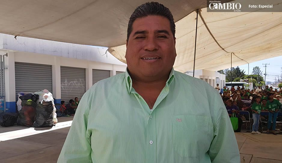 Candidato del PVEM en San Andrés presume ahorro del 80% en campaña