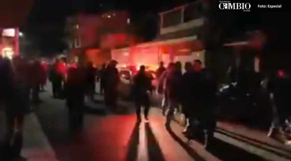 Multitud enardecida lincha a delincuente en San Martín Texmelucan