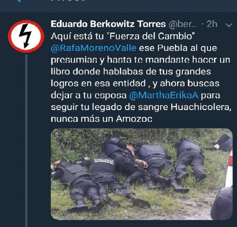 Bots y Trolls de Barbosa lucran con ejecución de policías de Amozoc para pedir voto parejo
