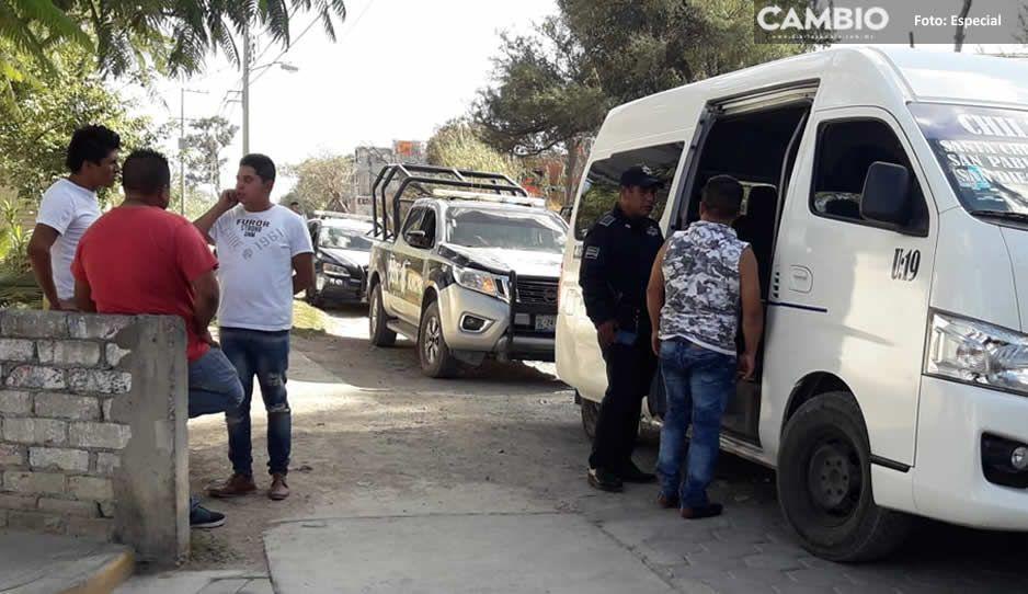 Golpean y encañonan a pasajeros de la ruta Chilac-Tehuacán, al chofer le quitaron 1,500 pesos