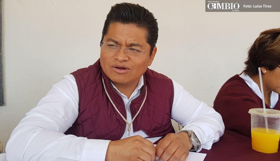 Edil Antonio Teutli pide apoyo para combatir huachicoleros en Coronango