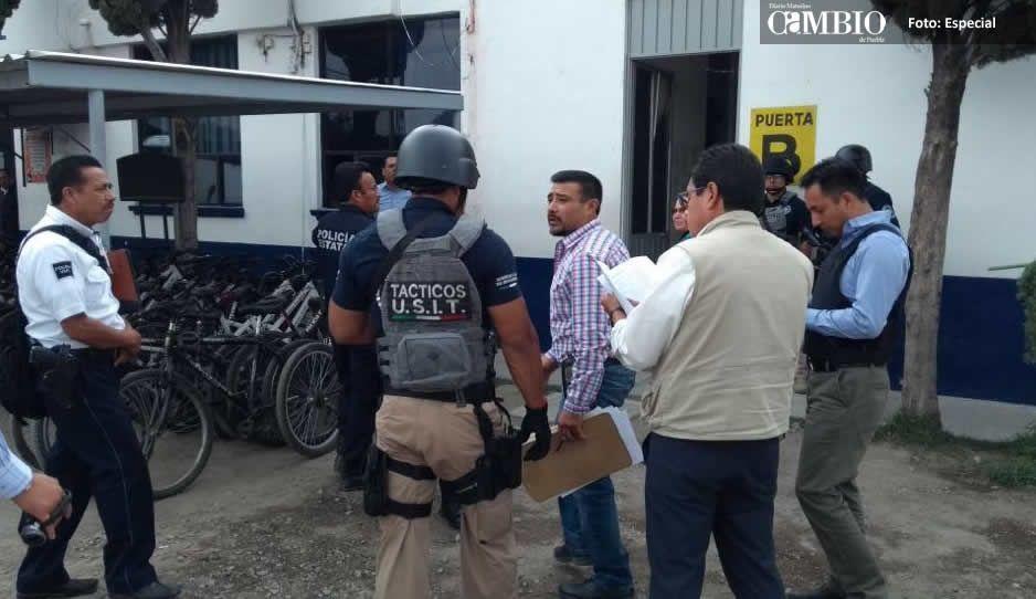 Fiscalía catea oficinas y comandancias de Seguridad Pública de San Martín
