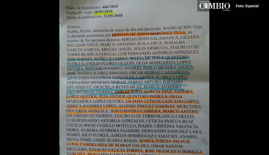 Ayuntamiento de Texmelucan paga amparo  para esposa del edil y asistentes de regidores