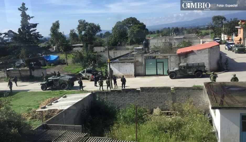 BOM catea domicilios y asegura unidades en Tlalancaleca